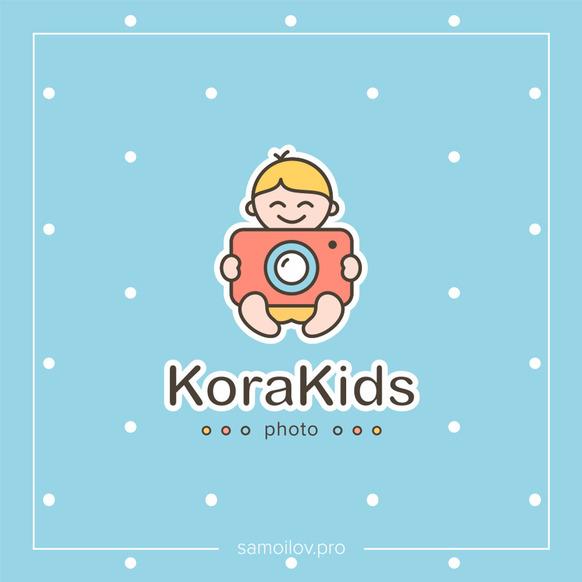 Логотип и фирменный стиль <br> студии фотографии «Korakids»