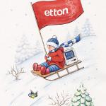 Серия из 12 авторских новогодних открыток <br> для компании «Эттон»