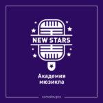 Логотип и фирменный стиль академии мюзикла «New Stars»